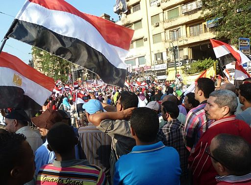 "Thousands poured into Tahrir Square to celebrate what they are calling Egypt's ""Second Revolution"", the military's ousting of president Mohamed Morsi, July 7, 2013 (image S Behn, Voice of America, Wiki Commons)"