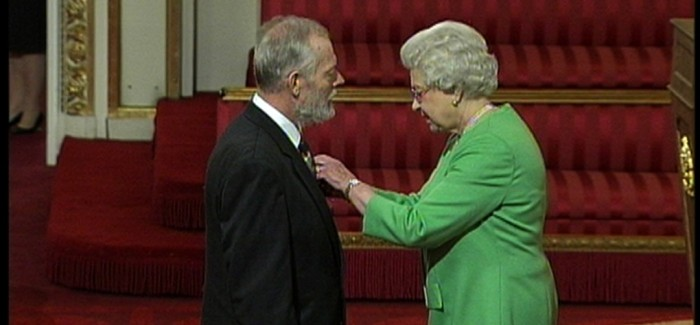 royal approval: the Queen presented rev Chris Sears with an Mbe for his work among the homeless of Hastings