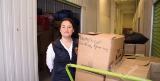 Samara Levy has just sent the fifth lorry full of winter clothes to Iraq