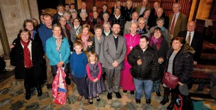 New Archdeacon Martin Lloyd Williams with family and friends at his licensing