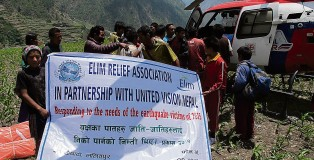 Elim Relief Association delivered aid to victims of the earthquake