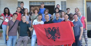 The team in Albania
