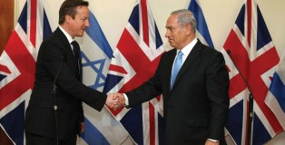Benjamin Netenyahu and David Cameron meet in London