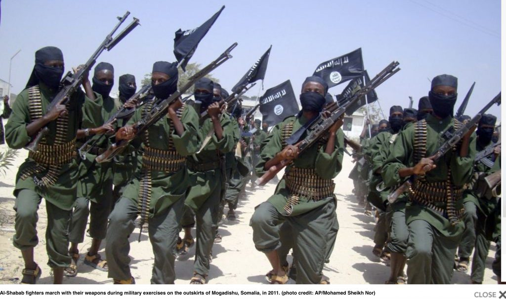 Al Shabaab militants in Somalia – affiliated with Al Qaeda