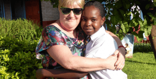 Rev Lynda Hulcoop with Martha, a student sponsored by Southwick Christian Community Church