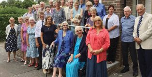Lindfield's praying church family; Pastor Mervyn and Alison Weeks are centre front