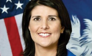 Bold defender: US ambassador Nikki Haley has repeatedly warned the UN over its anti-Israel bias