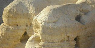 Qumran, where the Dead Sea Scrolls were discovered by a shepherd boy in 1947