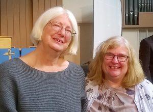 Rev Gill Behenna (left) and Rev Susan Myatt led the day using sign language