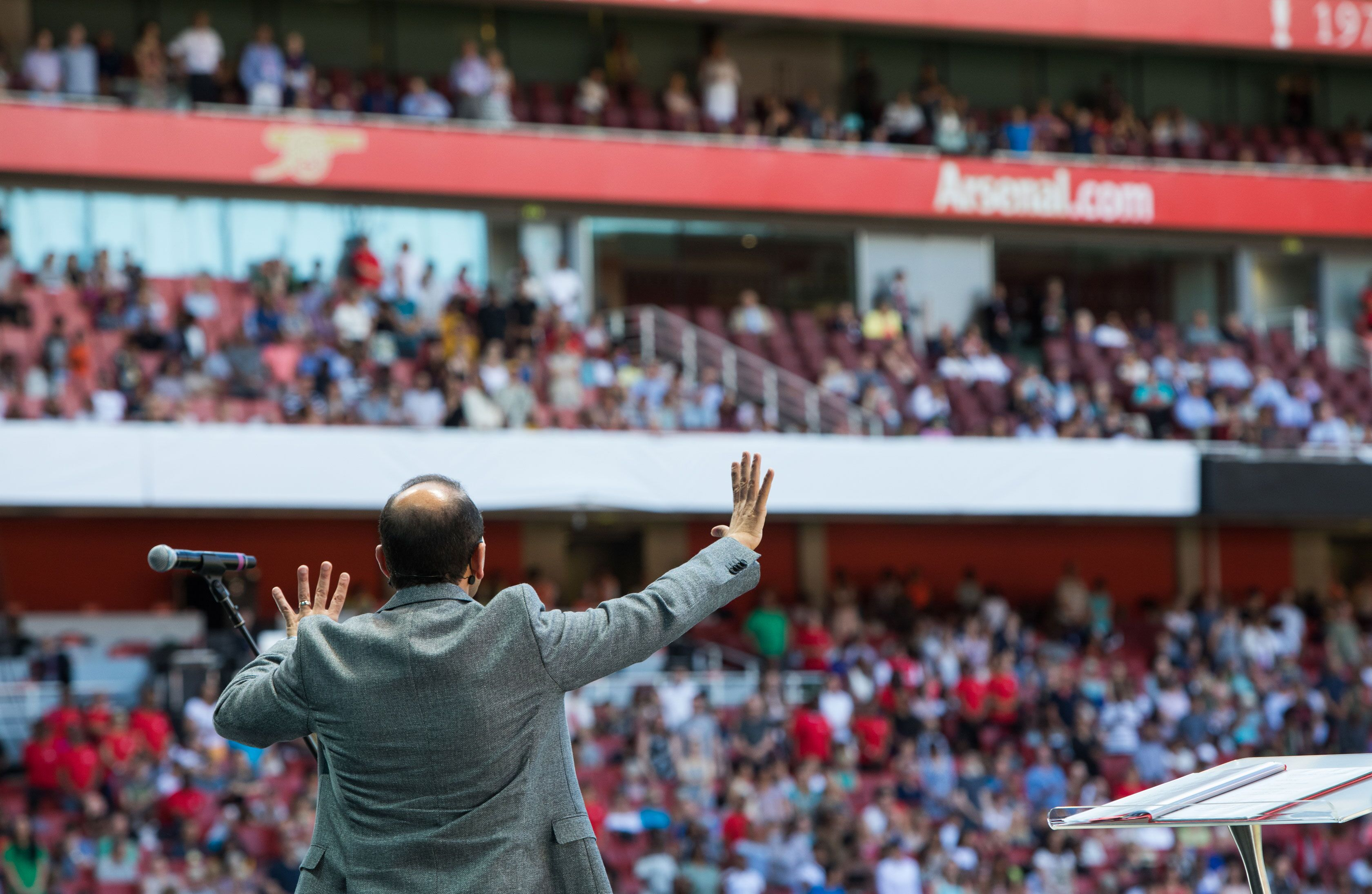 The scene at Arsenal's Emirates Stadium last June
