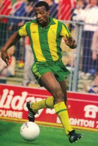 Cyrille in action for West Brom in the 1970s