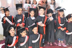 The little 'graduates' of a Christian kindergarten run by Stephen's Children
