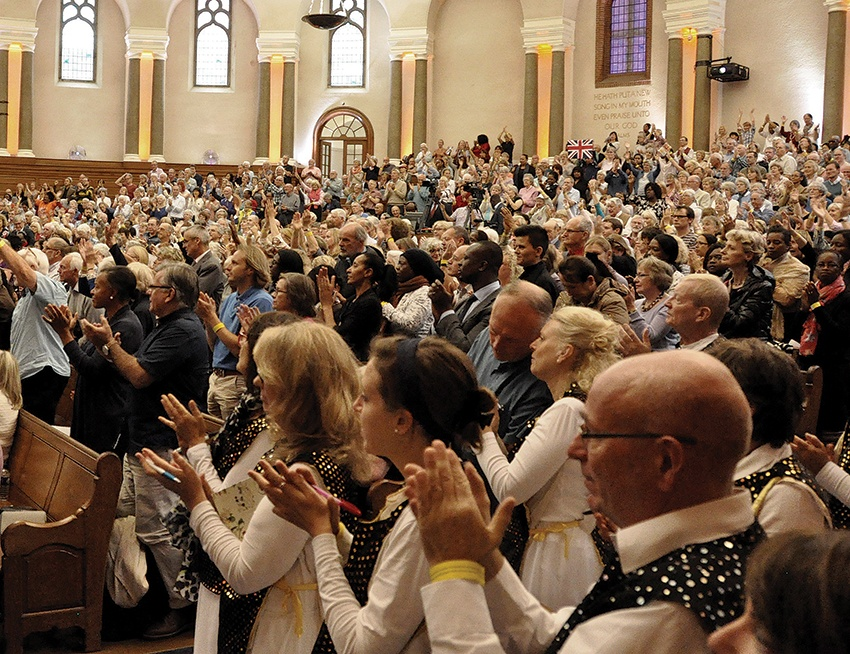 Nearly 2,000 people filled the Emmanuel Centre, while many other groups met in homes and churches around the country