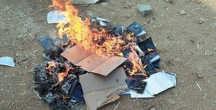 Bibles burned by Hindu extremists in Telangana state, India