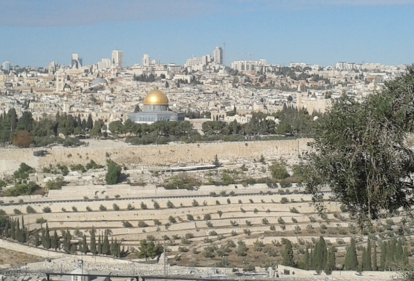Jerusalem as seen from the Mount of Olives, where the Queen's mother-in-law, Princess Alice, is buried
