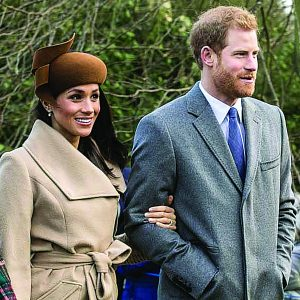 Meghan and Harry attend church at Sandringham on Christmas Day last year