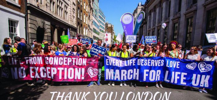 London pro-lifers march for the unborn