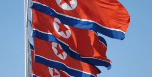 North Korea flags (picture - Wikicommons: John Pavelka)
