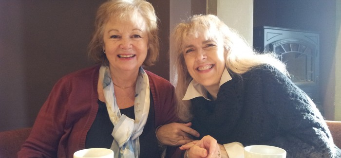 Ignited for prayer - Theodora Venner, left, and Susan Frank