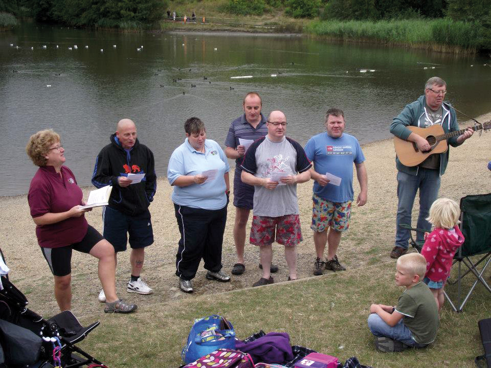 A life turned around: Mark's baptism with church friends last September