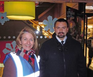 """""""Eye-opening"""": Katy Bourne with Street Pastors in Eastbourne"""