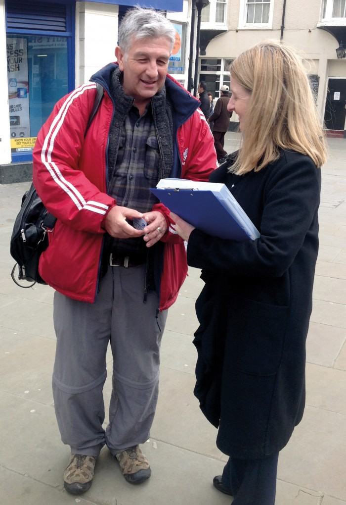 The Commissioner with Street Pastors Co-ordinator Martin West in St Leonards this March. You can read about Martin's walk in Uganda on p16