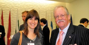 Donna with former boss Roger Helmer MEP