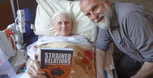 Author Bill Muehlenberg with bedridden campaigner Steve Stevens