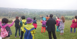 Praying for Winchester from the top of St Catherine's Hill overlooking the city