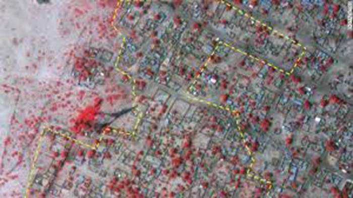 Devastation: Satellite images showed the devastation suffered by the towns of Baga and Doroh Baga by Boko Haram militants. Hundreds of people died and more than 3,700 structures were damaged in the onslaught. Photo: News Punch