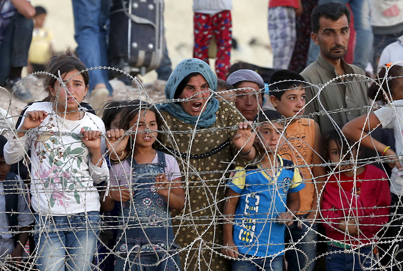 Hundreds of Christian families have fled the city of Hassakeh