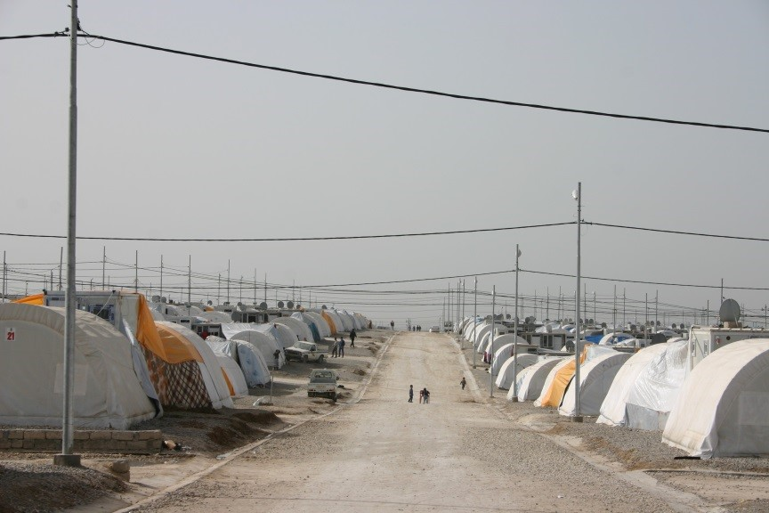 Kabarto, one of the 23 refugee camps in Duhok province, encompasses approximately 6 000 families, most of them Yezidi Kurds from the town of Sinjar. The refugees have limited clean water and food