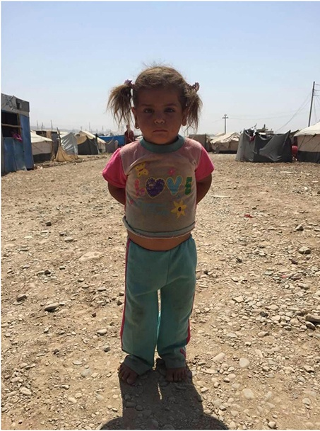 Thousands of refugee children walked barefoot in temperatures up to 50 degrees Celsius, while Kurdistan's freezing winter awaits them