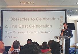 Stephen Dawson preaching at his church