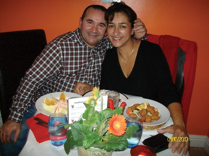 FULL OF FOOD AND FAITH: Filippo and Tina work and pray together