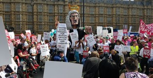 The famous giant judge effigy gained global attention at Christian Concern's rally against Assisted Dying in September