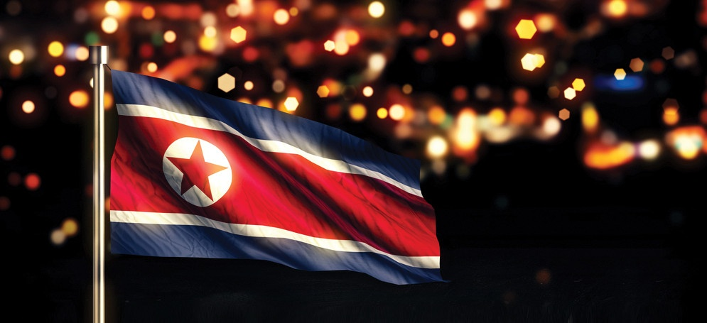N KOREAN FLAG