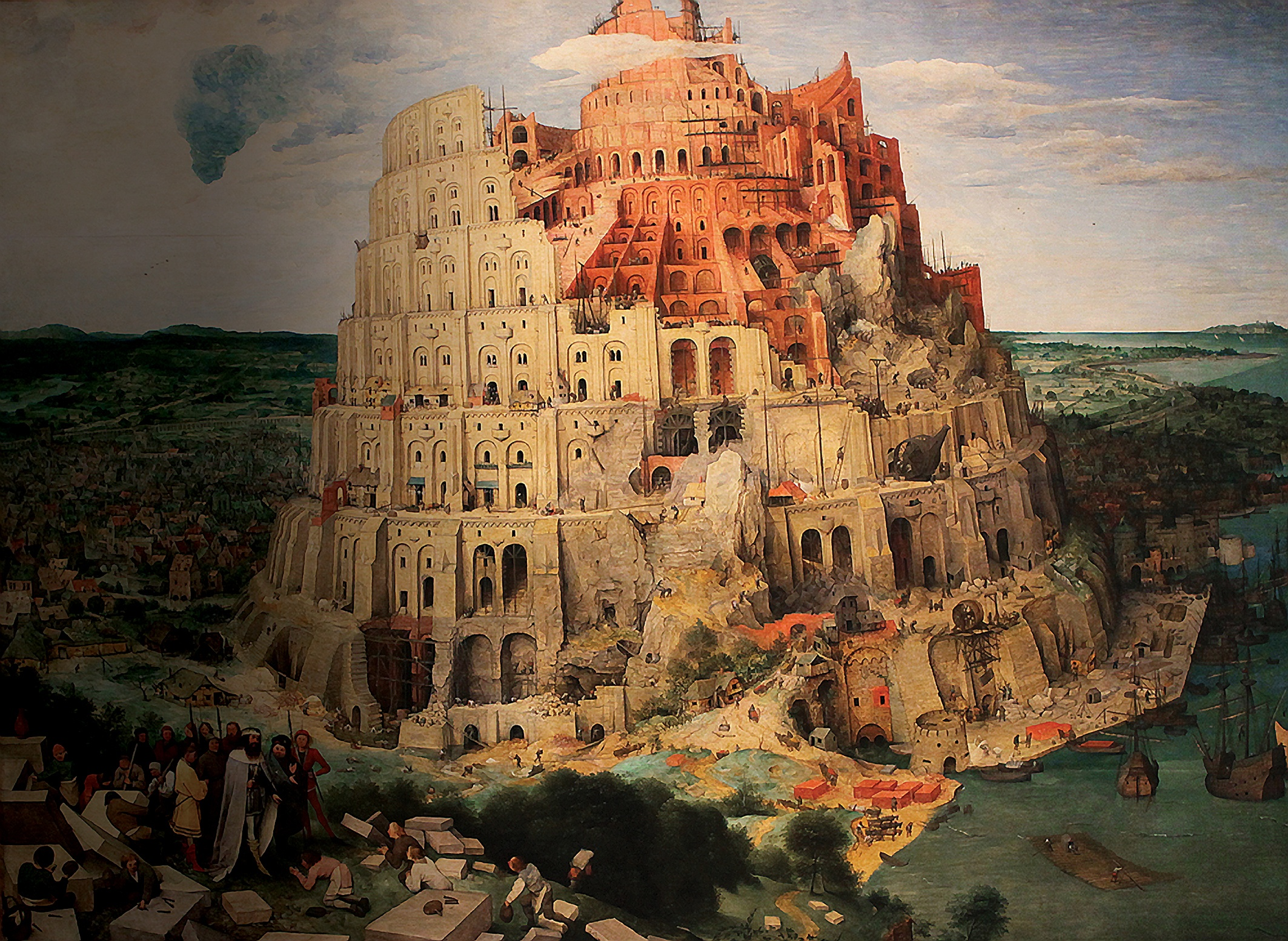 Tower of Babel by artist Pieter Bruegel the Elder 1563. Exiled in Babylon, after he had survived the lions' den, Daniel's vision of successive earthly empires spanning history, including the date of Messiah's birth, led to a tradition of interpreting world history in the light of the Bible. Daniel started his own 'school' of study in this field and his successors were wise men called the Magi, the prophetic king-makers of the Middle East. Hence Herod's terror when they arrived in Jerusalem, a small army on horseback (not camels and many more than three!) ready to welcome the King of the Jews