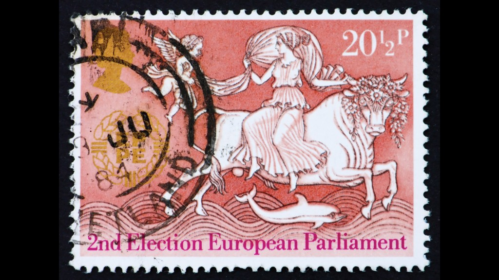 The image of the 'beast' abducting the fair maiden 'Europa' features everywhere from statues to stamps