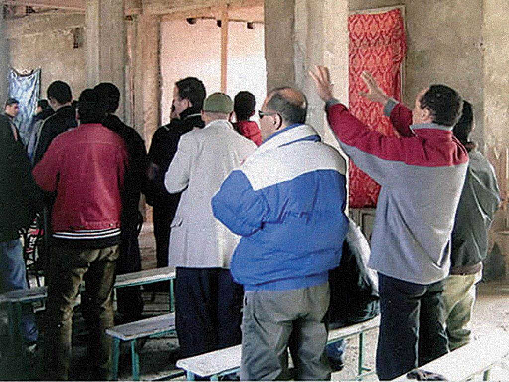Algerian Christians at worship