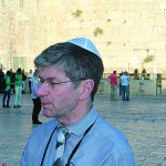 Author Charles Gardner at the Western Wall