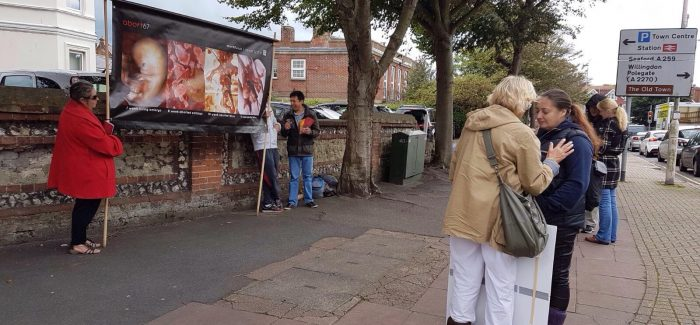 'Disturbing' graphic images outside abortion clinic