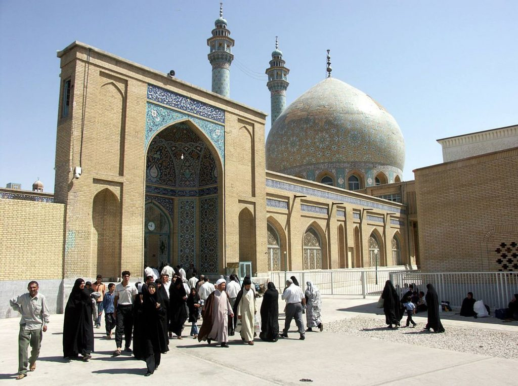 Hazrat Fatimah Mosque, also known as the A'zam (Great) Mosque, in Qom – arguably the most Islamic city in Iran