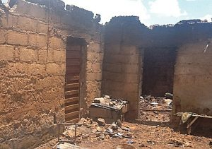 One of the homes burned in an assault on 13 villages in Plateau state, Nigeria in October