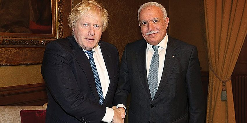 Boris Johnson reassured his Palestinian counterpart in the Foreign Office that the UK is not changing its policy towards the City of David