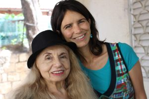 Rita with Janni, who works at the International Christian Embassy Jerusalem