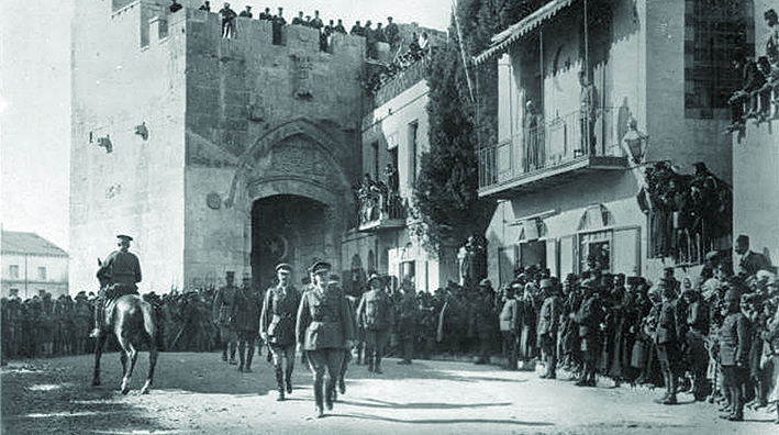 Conquering British General Allenby entered Jerusalem on foot in 1917