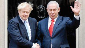 Boris and Bibi on steps of no 10
