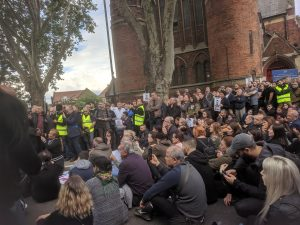 Crowds gather for a vigil to mark the untimely death of Baris Kucuk, the latest victim of London's knife-crime epidemic (Charles Mugenyi)