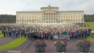 Pro life rally at Stormont